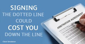 Signing the dotted line could cost you down the line